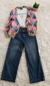 Lucky Brand Wide Leg Cropped Jeans - Women's SZ 27